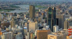 Orizzonte di Osaka Giappone Fotografie Stock