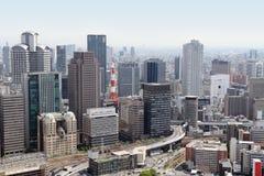 Orizzonte di Osaka, Giappone Fotografia Stock