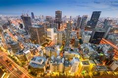 Orizzonte di Osaka, Giappone Immagine Stock