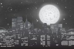 Orizzonte di paesaggio urbano illustrazione di stock