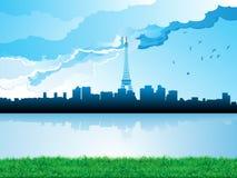 Orizzonte di paesaggio urbano illustrazione vettoriale