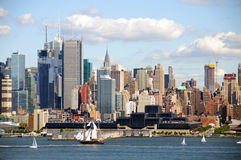 Orizzonte di paesaggio urbano di New York City, nyc, S.U.A. Fotografie Stock