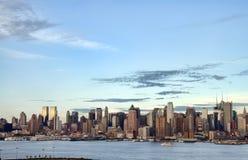 Orizzonte di paesaggio urbano di New York, S.U.A. Fotografia Stock Libera da Diritti
