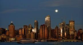 Orizzonte di paesaggio urbano di New York, S.U.A. Immagini Stock Libere da Diritti