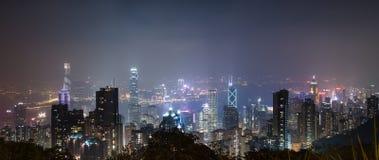 Orizzonte di paesaggio urbano di Hong Kong immagini stock