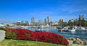 Orizzonte di paesaggio urbano di Long Beach California fotografia stock