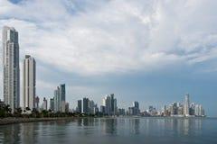 Orizzonte di Panama City Fotografia Stock