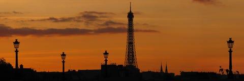 Orizzonte di Parigi Immagini Stock