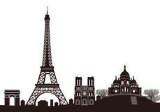 Orizzonte di Parigi Immagine Stock Libera da Diritti