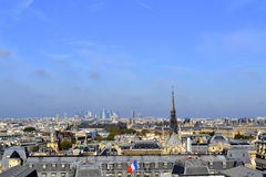 Orizzonte di Parigi da Notre Dame de Paris Fotografia Stock Libera da Diritti