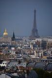 Orizzonte di Parigi da Notre Dame de Paris Immagine Stock