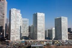 Orizzonte di Pechino CBD Immagine Stock
