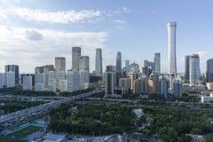 Orizzonte di Pechino CBD fotografia stock libera da diritti