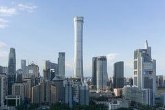 Orizzonte di Pechino CBD fotografia stock