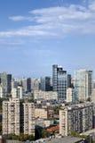 Orizzonte di Pechino contro cielo blu La Cina Fotografia Stock Libera da Diritti