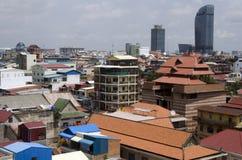 Orizzonte di Phnom Penh Immagine Stock