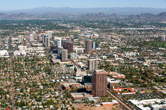 Orizzonte di Phoenix di Midtown Fotografia Stock Libera da Diritti