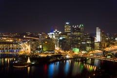 Orizzonte di Pittsburgh Fotografia Stock Libera da Diritti