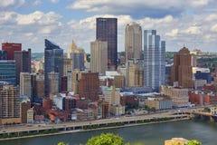 Orizzonte di Pittsburgh Immagini Stock