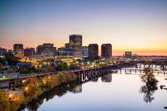 Orizzonte di Richmond del centro, la Virginia fotografia stock