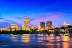 Orizzonte di Richmond la Virginia fotografia stock