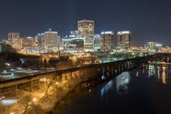 Orizzonte di Richmond, la Virginia fotografia stock libera da diritti