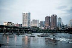 Orizzonte di Richmond VA Fotografie Stock Libere da Diritti