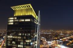 Orizzonte di Riyad alla notte Immagini Stock Libere da Diritti