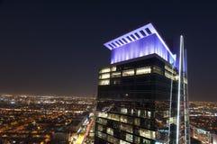 Orizzonte di Riyad alla notte Fotografie Stock