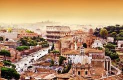 Orizzonte di Roma Immagini Stock