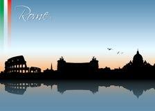Orizzonte di Roma Immagine Stock