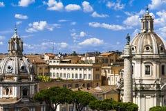 Orizzonte di Roma Fotografie Stock