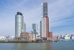 Orizzonte di Rotterdam Fotografia Stock Libera da Diritti