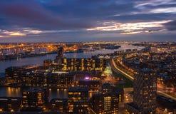 Orizzonte di Rotterdam Fotografie Stock