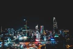 Orizzonte di Saigon anche conosciuto come Ho Chi Minh City nel Vietnam fotografie stock