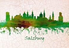 Orizzonte di Salisburgo Austria illustrazione vettoriale
