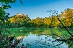 Orizzonte di Salisburgo con la fortezza di estate, terra di Salzburger, Austria Fotografie Stock Libere da Diritti