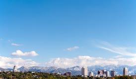 Orizzonte di Salt Lake City Fotografie Stock Libere da Diritti