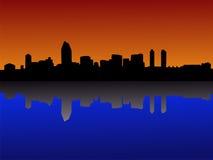 Orizzonte di San Diego al tramonto illustrazione di stock