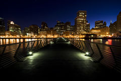Orizzonte di San Francisco alla notte Fotografie Stock