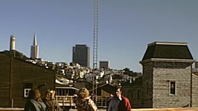 Orizzonte di San Francisco stock footage