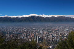 Orizzonte di Santiago Fotografie Stock Libere da Diritti