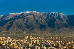 Orizzonte di Santiago de Cile Fotografia Stock