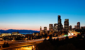 Orizzonte di Seattle Fotografie Stock