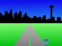 Orizzonte di Seattle royalty illustrazione gratis