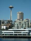 Orizzonte di Seattle da acqua Fotografia Stock Libera da Diritti