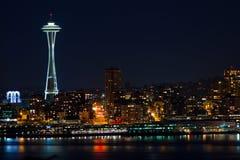 Orizzonte di Seattle ed ago dello spazio immagine stock libera da diritti