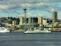 Orizzonte di Seattle ed ago dello spazio, Washington Immagini Stock Libere da Diritti