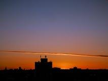 Orizzonte di sera del sobborgo di Londra fotografie stock