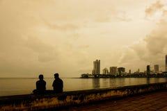 Orizzonte di sera di Mumbai Fotografia Stock